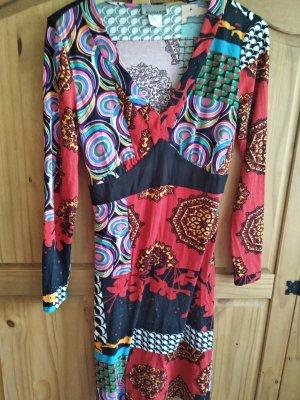 Mandarin Hippie Dress multicolored