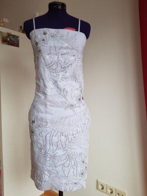 French Connection Vestido de lentejuelas color plata-azul celeste