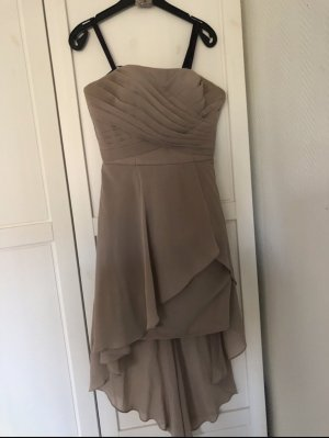Laona High Low Dress beige-oatmeal