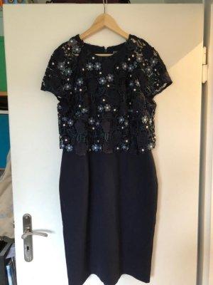 Phase eight Vestido ceñido de tubo azul oscuro-blanco