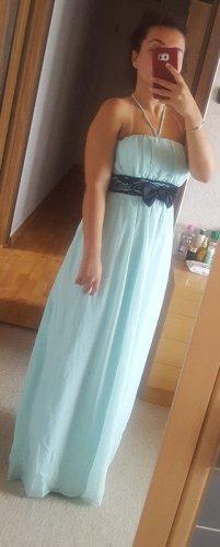 Vestido de baile azul bebé-turquesa