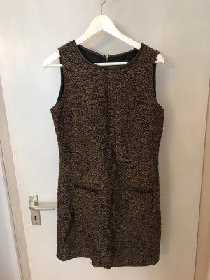 Vestido de lana negro-marrón claro