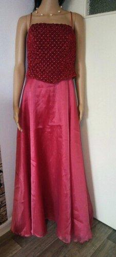 Bustier Dress brick red-red mixture fibre