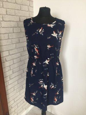 Anmol A-lijn jurk donkerblauw-roodbruin
