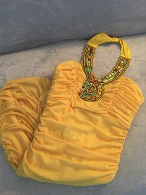 Sukienka tuba żółty