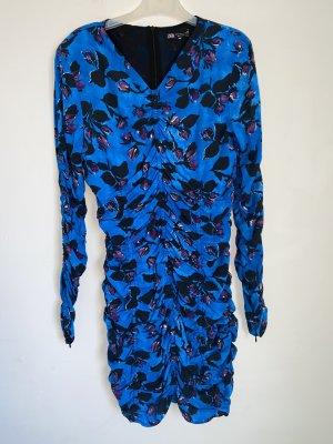 Kleid gerafft mit Print