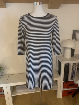 Vestido elástico azul oscuro-blanco