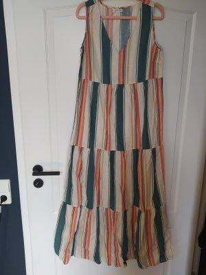 Kleid gestreift lang Maxikleid Leinen Leinenkleid