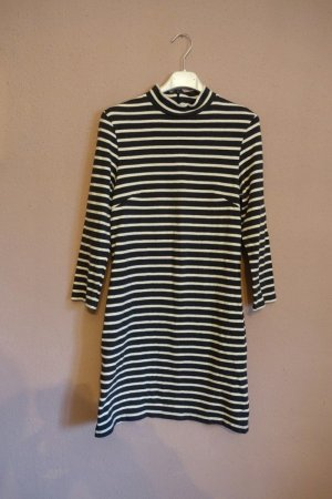 Wood Wood Jersey Dress anthracite-white cotton