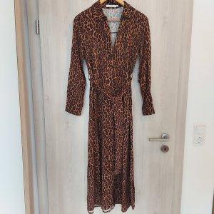 Kleid getigert Maxikleid lang 34 braun