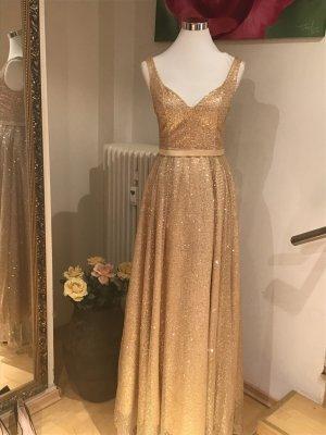 Kleid,Glitzer,Gold