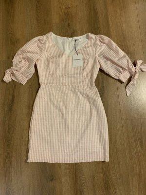 Kleid Glmaorous rosa weiß 38 M Neu Etikett Puffärmel Schleife