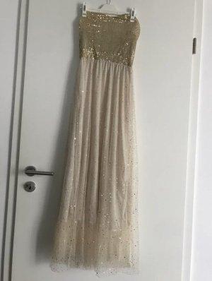 Kleid Gold Abendkleid Cocktailkleid Gr S NEU