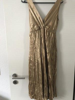 Yessica Robe de soirée doré acétate