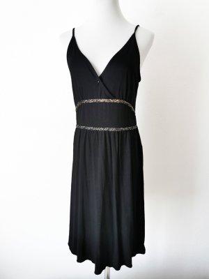 Kleid Gold schwarz Glitzer
