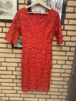 Kleid Gr 34 Rot Neu