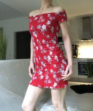 H&M Robe courte blanc-rouge