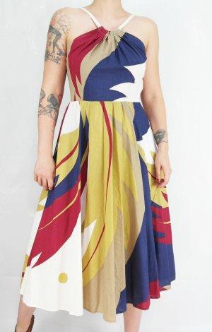 Vestido con enagua multicolor Algodón