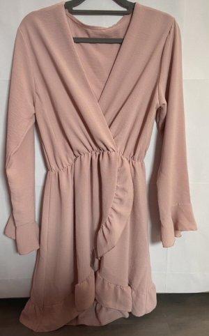 Kopertowa sukienka różany