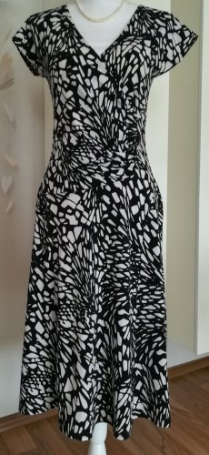 Aust Robe portefeuille blanc-noir