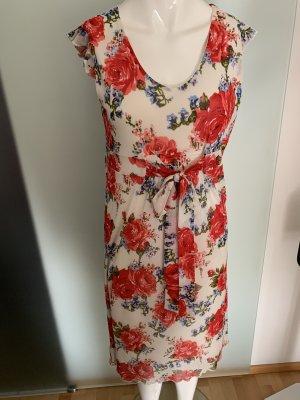 Kleid Gr 38 40 M Rosen Muster