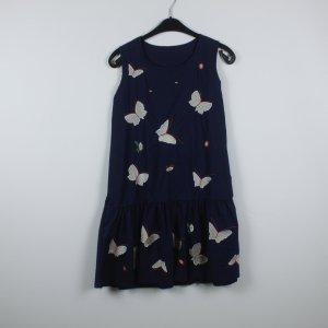 Kleid Gr. 38 dunkelblau Schmetterlinge
