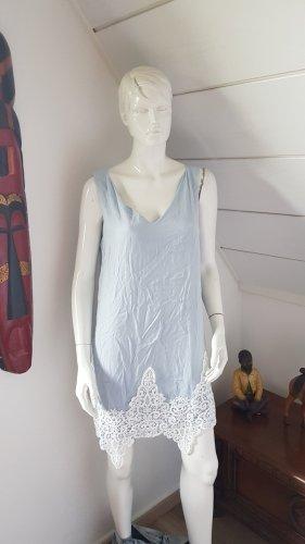Janina Sukienka plażowa biały-błękitny
