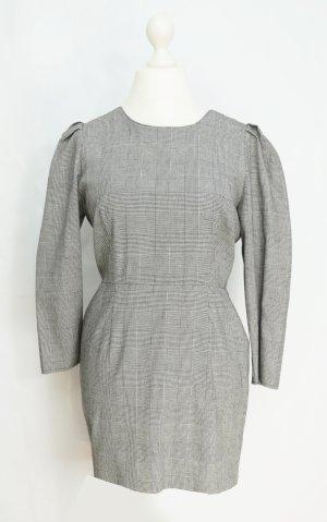 Kleid Gr. 40-42 Wollkleid mit Knöpfen Hahnentritt