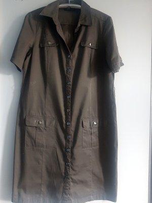 Tchibo / TCM Shortsleeve Dress green grey cotton