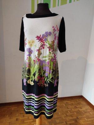 Kleid, Gr. 42, Charles Vögele, Kurzarm, florales Muster