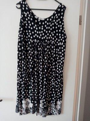 bpc bonprix collection A Line Dress black-white viscose