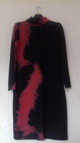 Alba Moda Sukienka z długim rękawem Wielokolorowy Bawełna