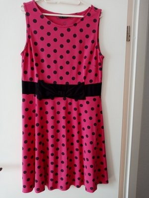 Bodyflirt Summer Dress pink-black viscose