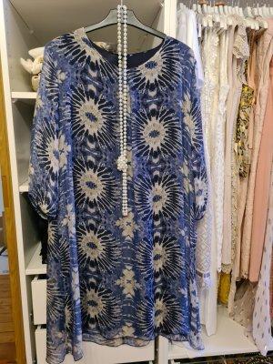 Zalando Chiffon Dress blue-steel blue