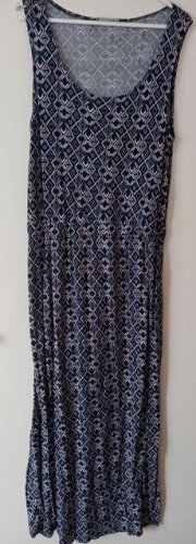 Blue Motion Maxi-jurk blauw-wit Viscose