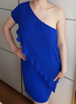 Zara One Shoulder Dress blue mixture fibre