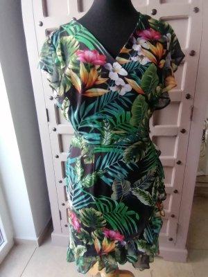 Kleid Gr L/ XL Bananenblatt Wickelkleid