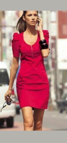3 Suisses Mini-jurk rood