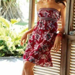 3 Suisses Sukienka plażowa czerwony-ciemnoczerwony