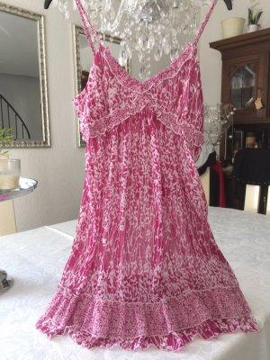 Chiffon jurk paars-wit