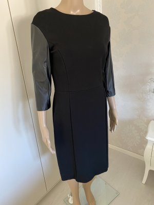 Fornarina Robe en cuir noir