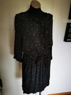 Kleid Gr. M Grau mit roten punkten