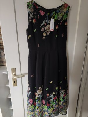 Kleid gr. M schwarz geblümt