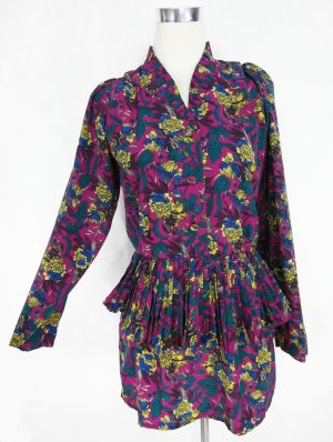 Peplum Dress multicolored polyester