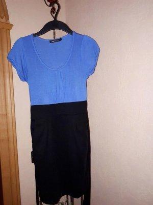 Kleid, Gr. S, schwarz-blau, Kurzarm