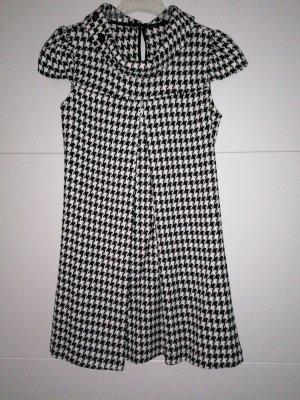 Amisu A Line Dress white-black polyester