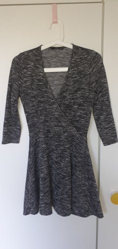 Kleid grau meliert 3/4-Ärmel Mango xs