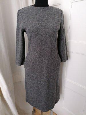 Kleid, grau mit Einschubtaschen