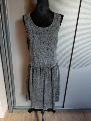 Kleid grau Spitze mogul