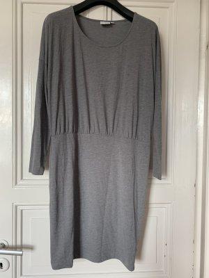 Kleid, Grau, Sweat, Baumwolle, M